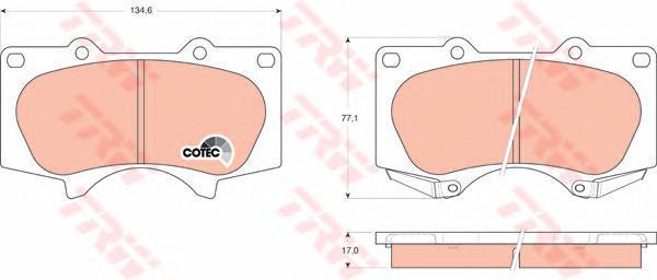 Колодки тормозные дисковые TRW/Lucas GDB3364, передние g571 пейзаж lucas lucas lucas