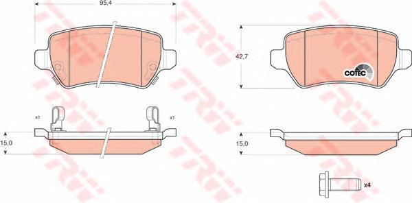 Колодки тормозные дисковые TRW/Lucas GDB1515 b1120 lucas lucas lucas