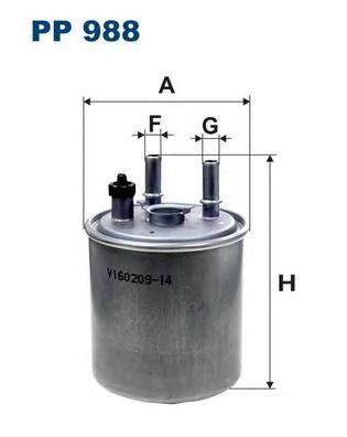 Фильтр топливный Filtron PP988 топливный фильтр filtron pp8371