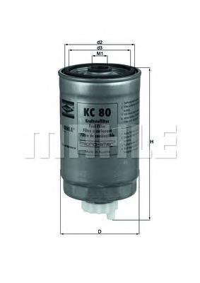 Фильтр топливный Mahle KC80 фильтр топливный mahle kl438
