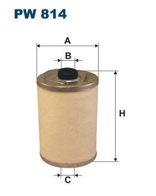 Фильтр топливный Filtron PW814 топливный фильтр filtron pp8371