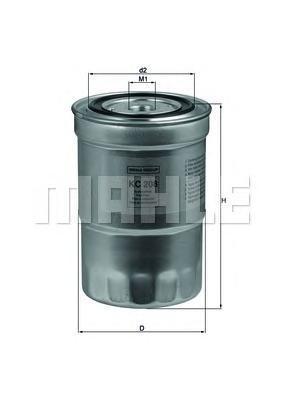 Фильтр топливный Mahle KC208 фильтр топливный mahle kl438