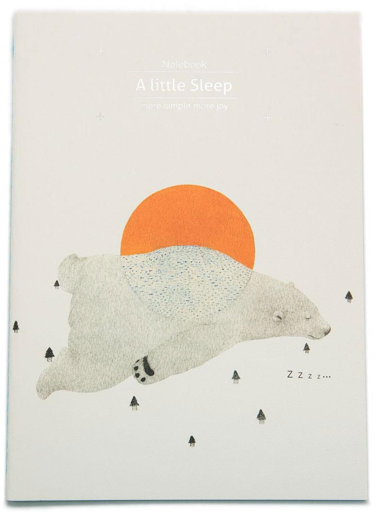 Еж-стайл Тетрадь A Little Sleep Медведь в линейку 38 листов еж стайл тетрадь supermiao 2 batman a5 38 листов в линейку