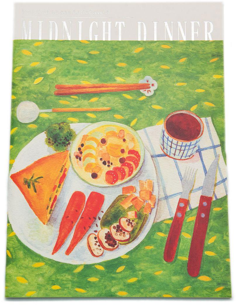 Еж-стайл Тетрадь Midnight Dinner 38 листов в линейку цвет зеленый цена