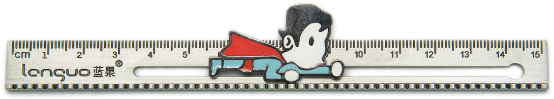 Еж-стайл Линейка Superhero Superman 19 см еж стайл закладка винтаж ключ и замок