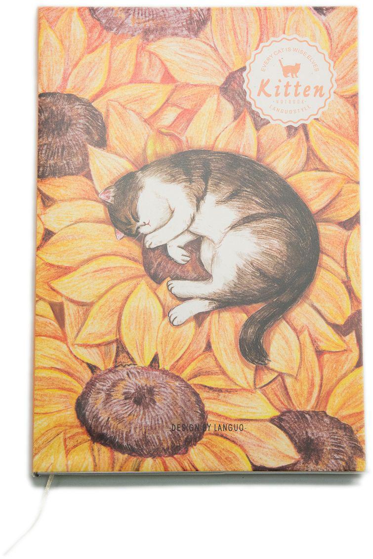 Еж-стайл Тетрадь Kitten В подсолнухе 44 листа в линейку еж стайл закладка винтаж ключ и замок