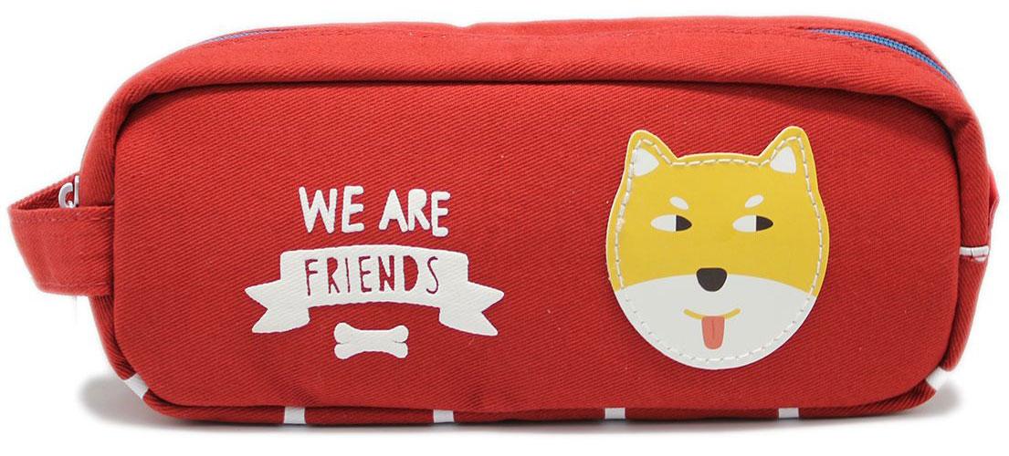 Еж-стайл Пенал-косметичка We Are Friends цвет красный цена