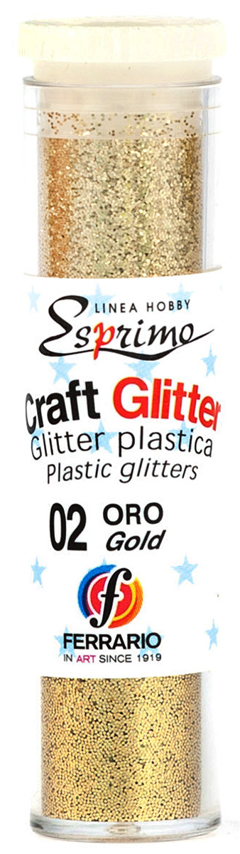 Ferrario Глиттеры Craft №02 цвет золото ferrario краска масляная van dyck цвет 91 золото av1116bo91