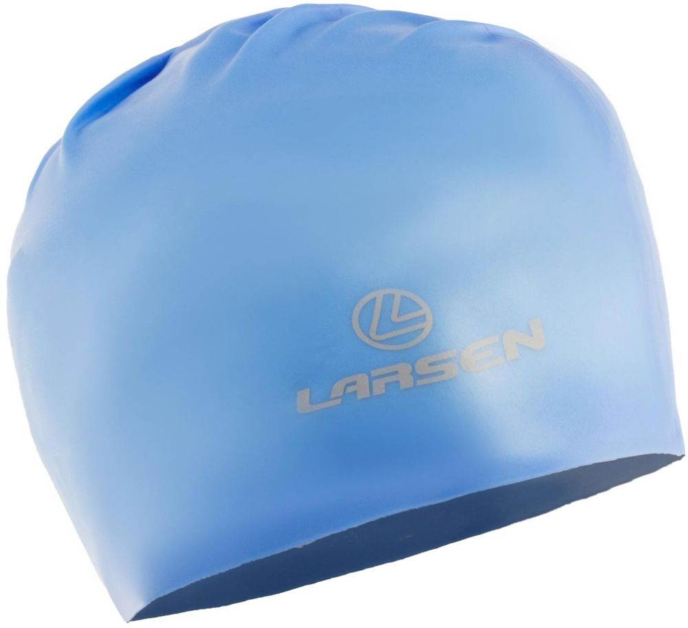 Шапочка для плавания Larsen, цвет: синий. 154316 шапочка для плавания larsen цвет белый красный ls76