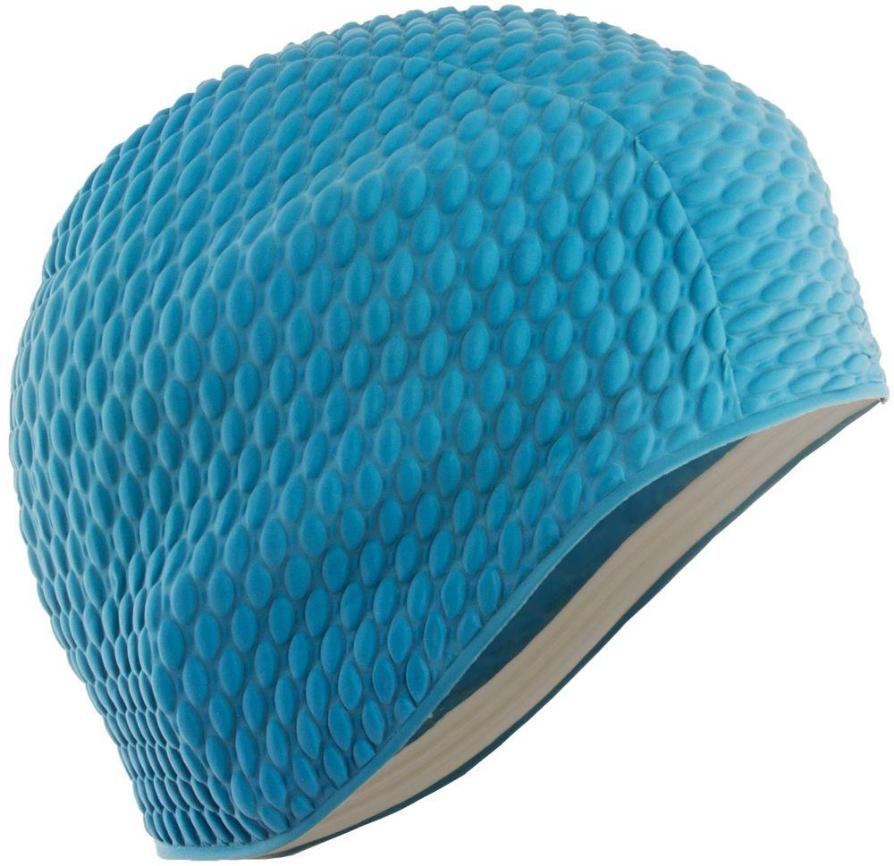 Шапочка для плавания Larsen Бабл-кап, цвет: голубой шапочка для плавания larsen цвет белый красный ls76