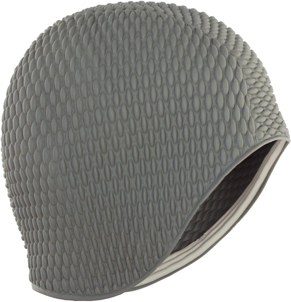 Шапочка для плавания Larsen Бабл-кап, цвет: серый шапочка для плавания larsen цвет белый красный ls76