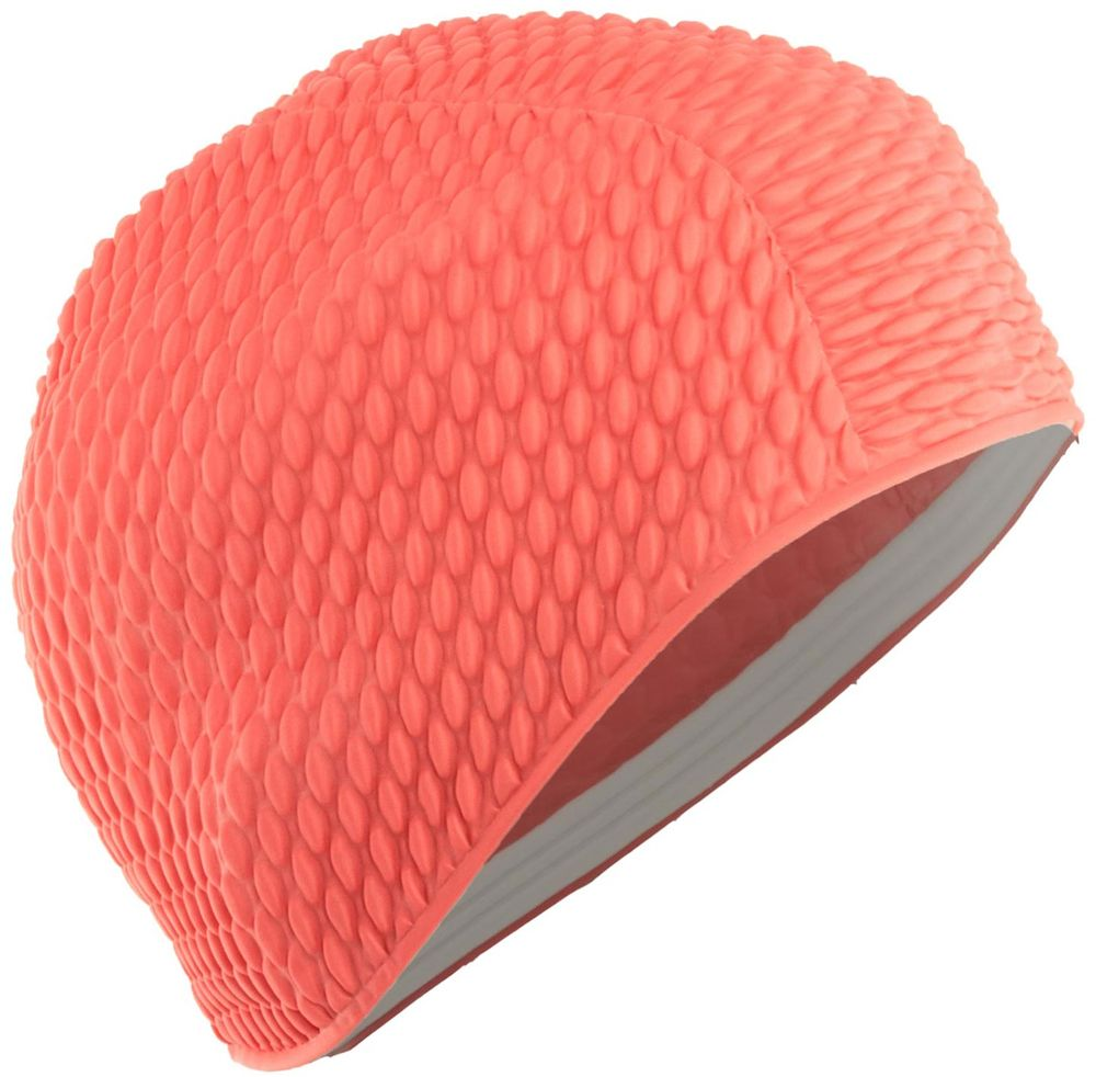 Шапочка для плавания Larsen Бабл-кап, цвет: красный шапочка для плавания larsen цвет белый красный ls76