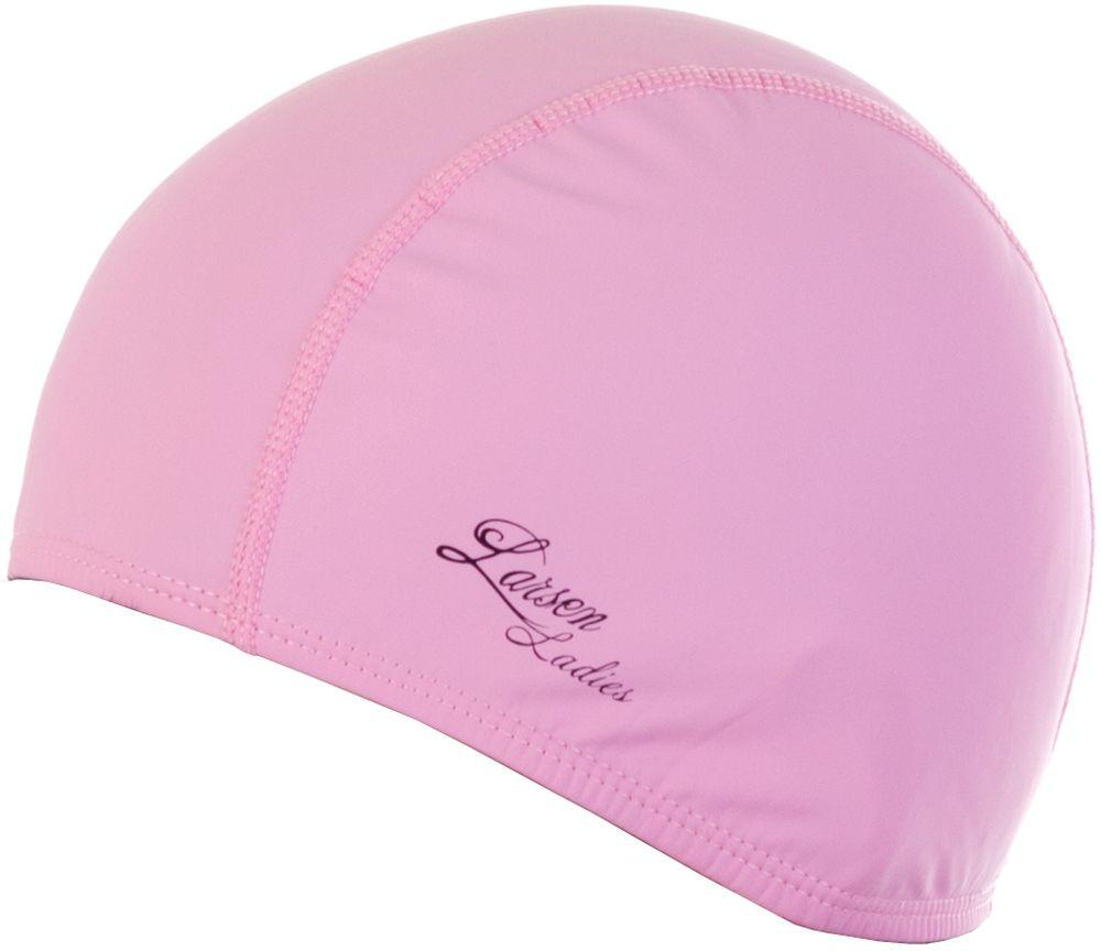 Шапочка для плавания Larsen Ladies, цвет: розовый шапочка для плавания larsen цвет белый красный ls76