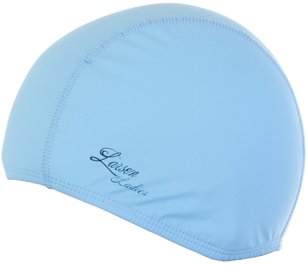 Шапочка для плавания Larsen Ladies, цвет: голубой шапочка для плавания larsen цвет белый красный ls76