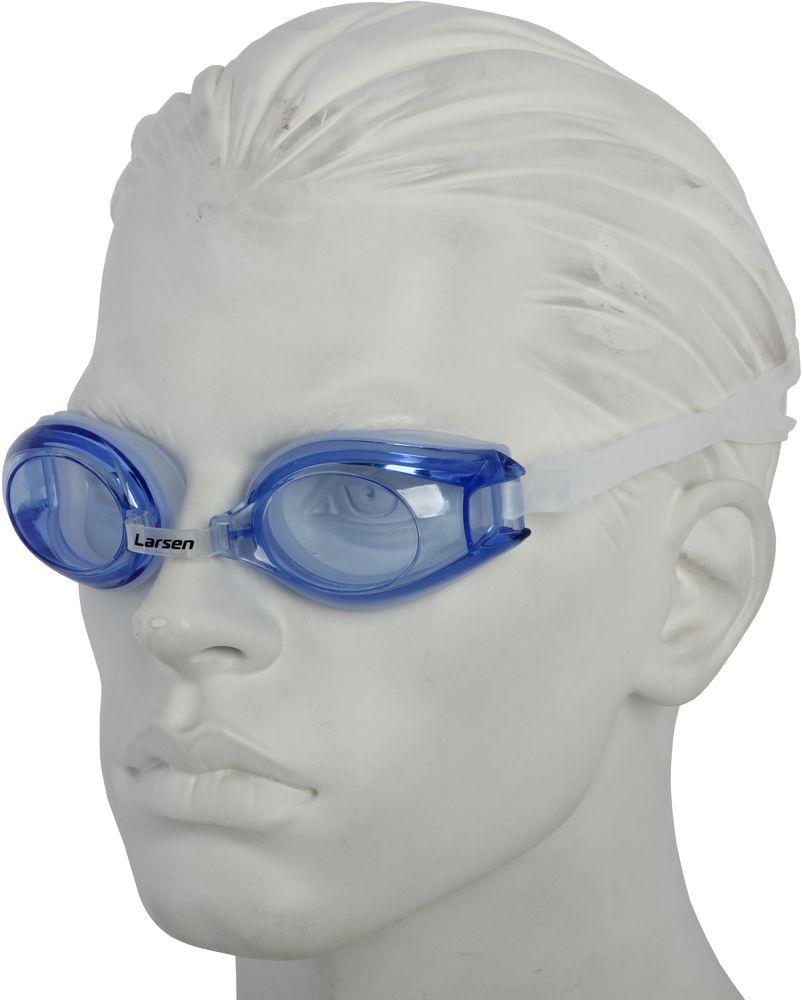 Фото - Очки для плавания Larsen, цвет: синий. R1281 очки для плавания larsen dr g105 детские цвет розовый