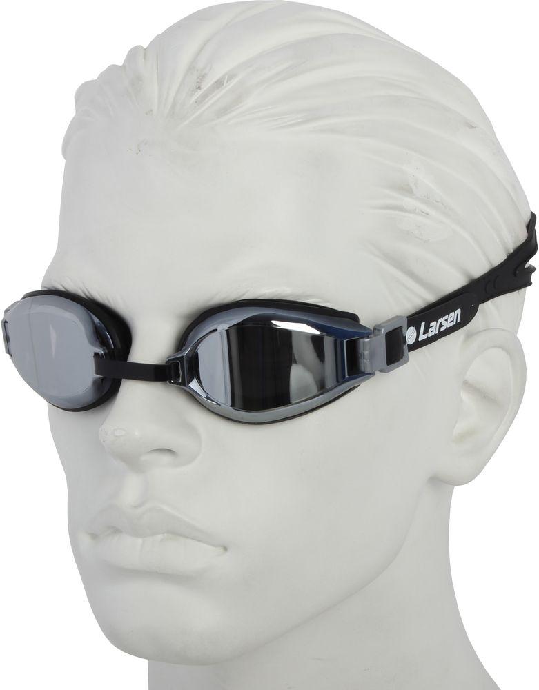 Очки плавательные Larsen, цвет: черный. R1229UV arena импортные плавательные очки противотуманные большие рамочные очки водонепроницаемые