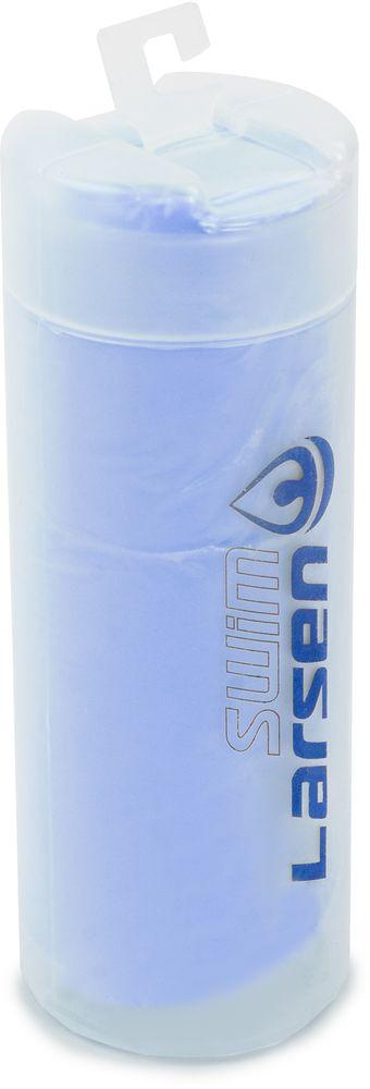 Полотенце спортивное Larsen, цвет: синий, 33 х 43 см цена