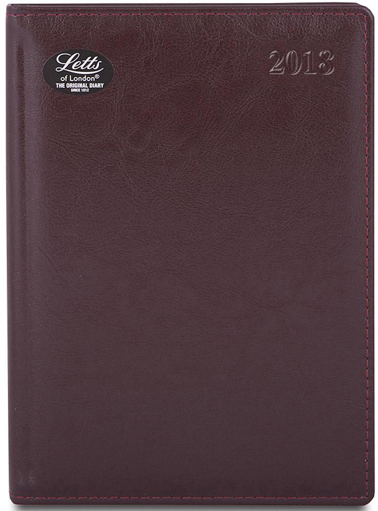 Letts Ежедневник Global Deluxe 2018 датированный 208 листов цвет бордовый формат А5 еженедельник датированный letts global deluxe ibiza a4 натуральная кожа 412127410