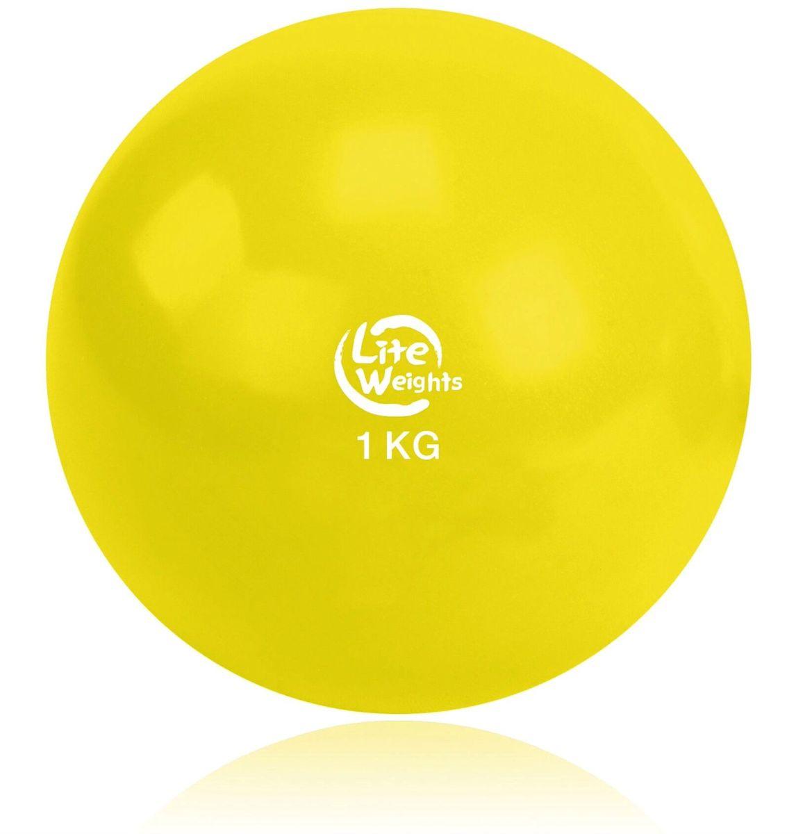 Медицинбол Lite Weights, цвет: желтый, 1 кг