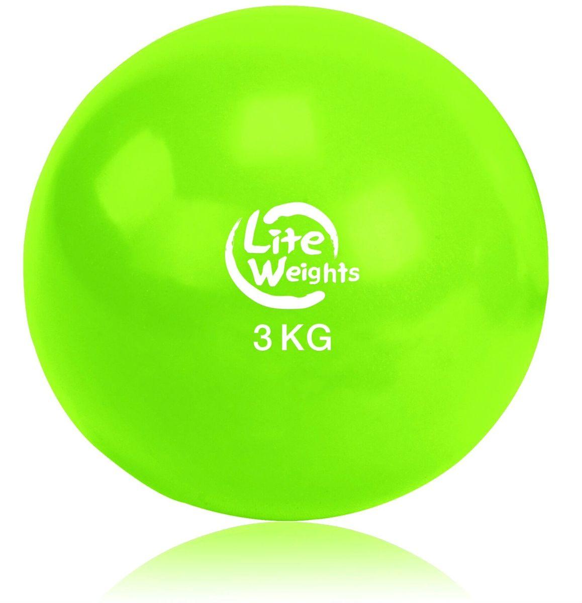 Медицинбол Lite Weights, цвет: салатовый, 3 кг