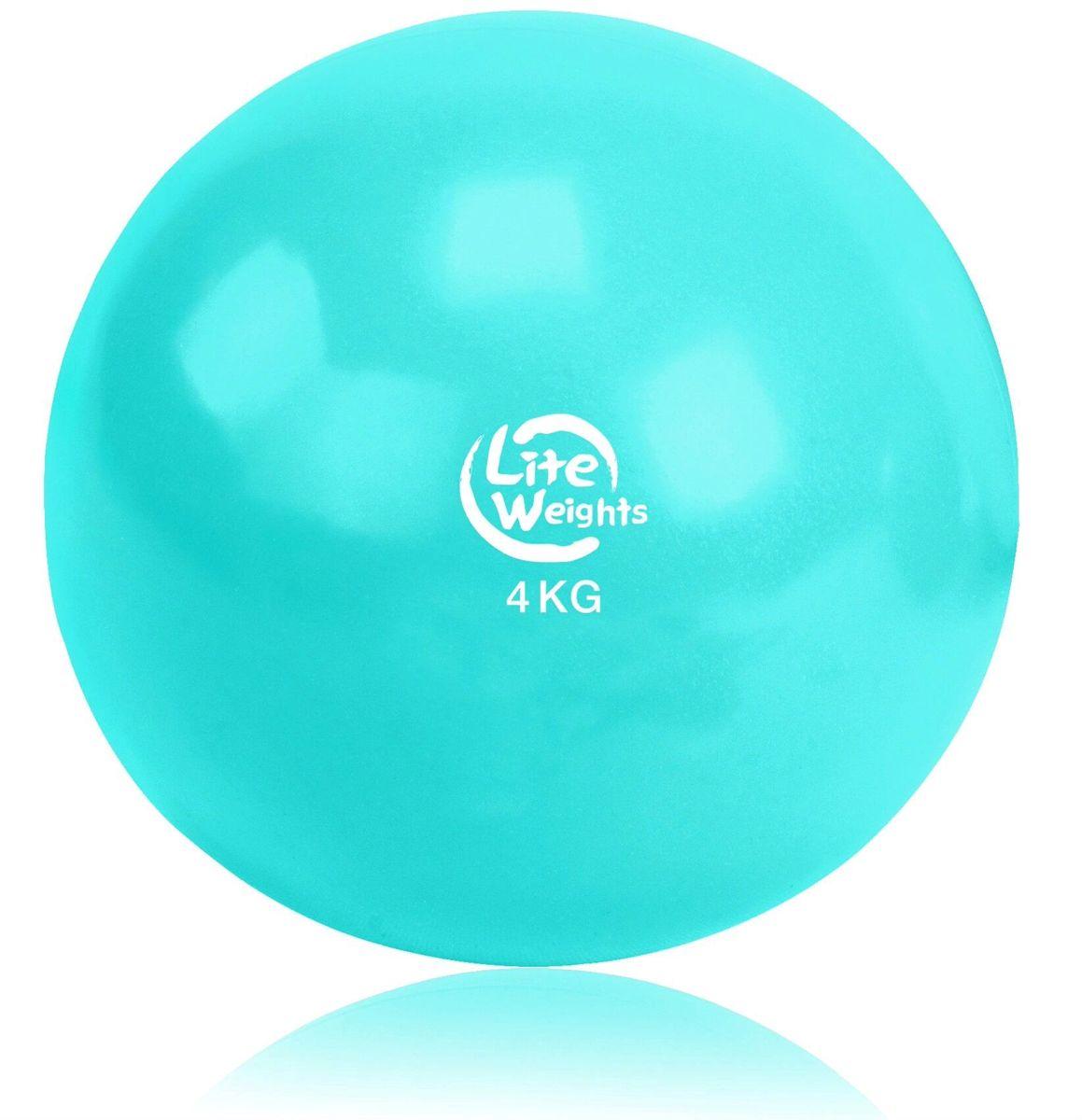 Медицинбол Lite Weights, цвет: голубой, 4 кг