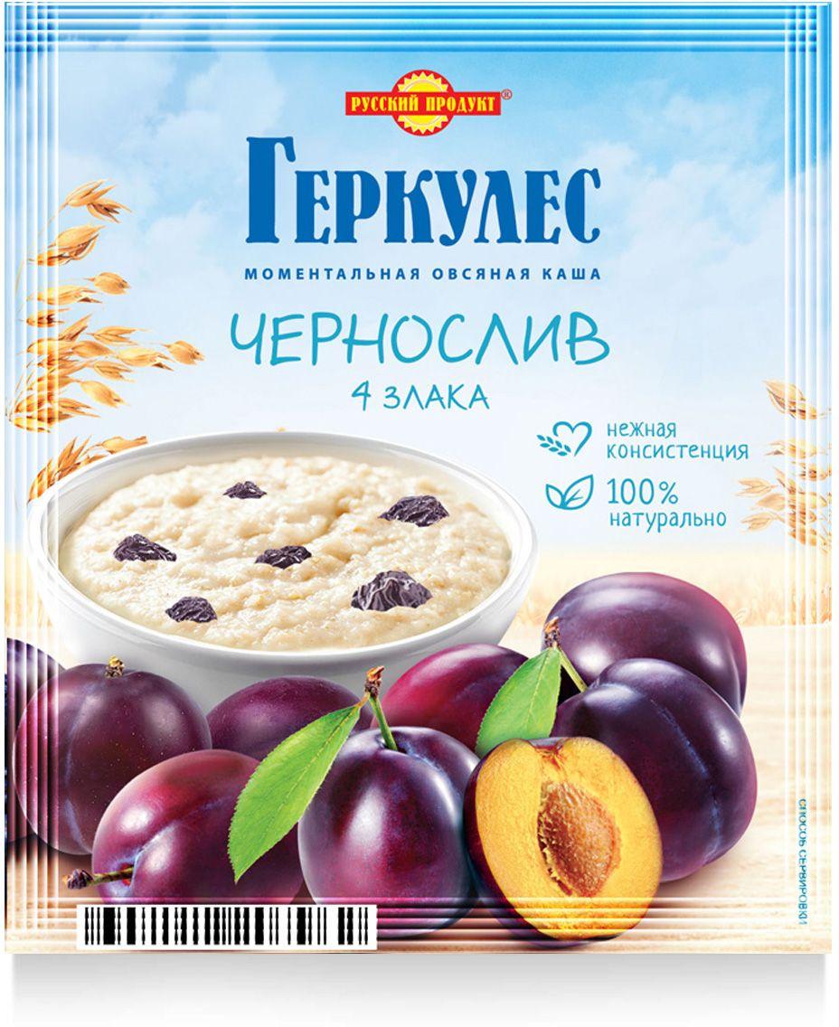 Русский продукт Геркулес овсяная каша с черносливом, 30 шт по 35 г русский продукт желе зеленое яблоко 35 шт по 50 г