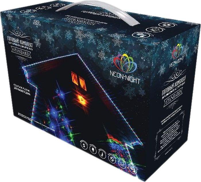 """Комплект Neon-Night """"Standard"""", для новогоднего украшения дома, цвет гирлянд: теплый белый. 500-076"""