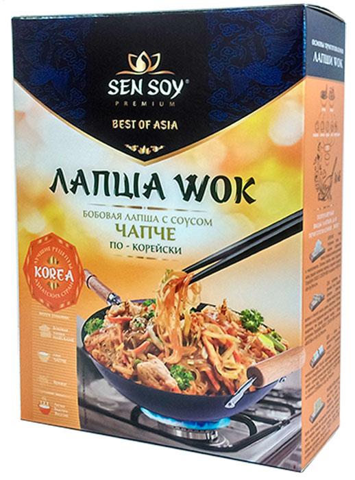 Sen Soy Premium лапша бобовая с соусом chapchae и кунжутом, 235 г