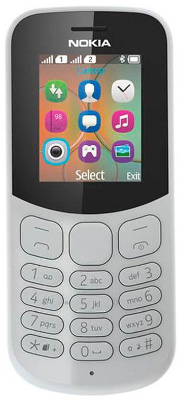 Мобильный телефон Nokia 130 Dual Sim, серый