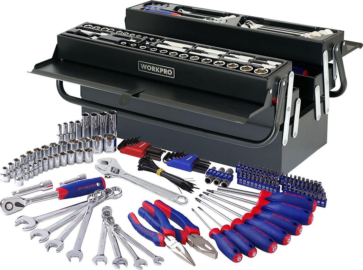 Набор инструментов Workpro, в ящике, 183 предмета