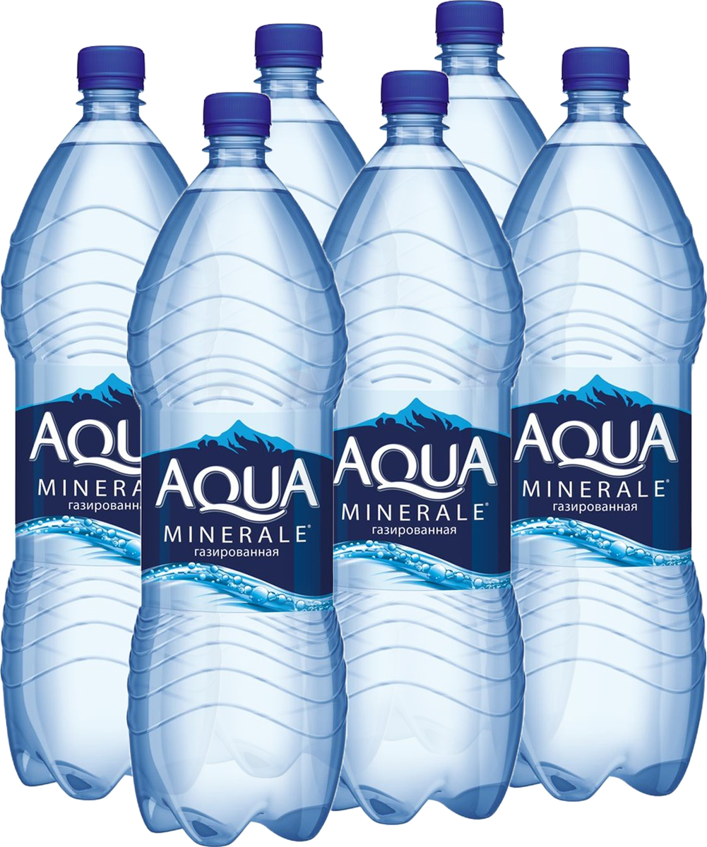 Aqua Minerale вода газированная питьевая, 6 штук по 2 л