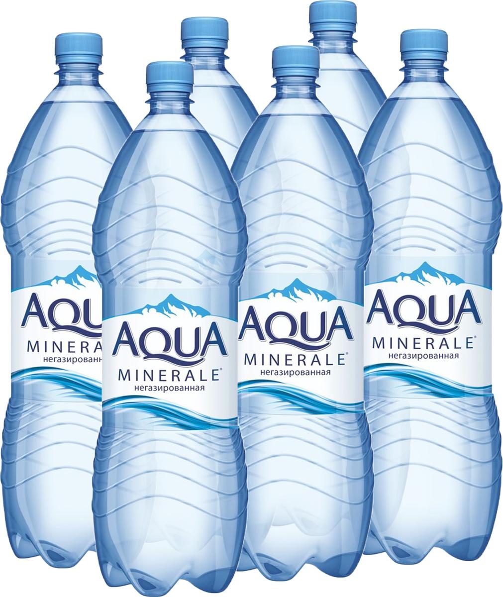 Aqua Minerale вода питьевая негазированная, 6 штук по 2 л