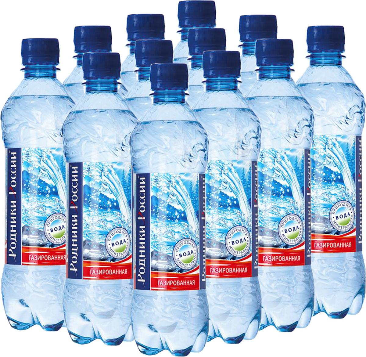 Родники России вода минеральная природная столовая газированная, 12 штук по 0,5 л bikkembergs низкие кеды и кроссовки