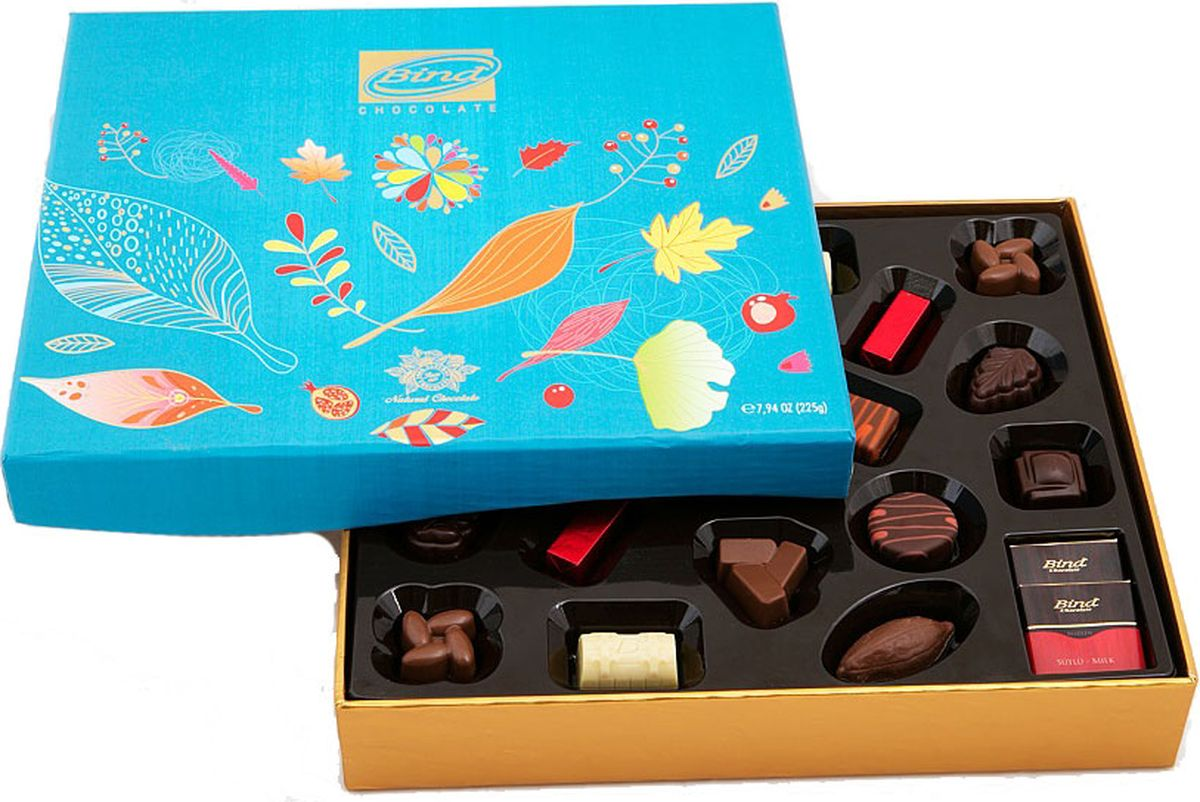 Bind Осень набор шоколадных конфет, 320 г набор шоколадных конфет the belgian 200 г