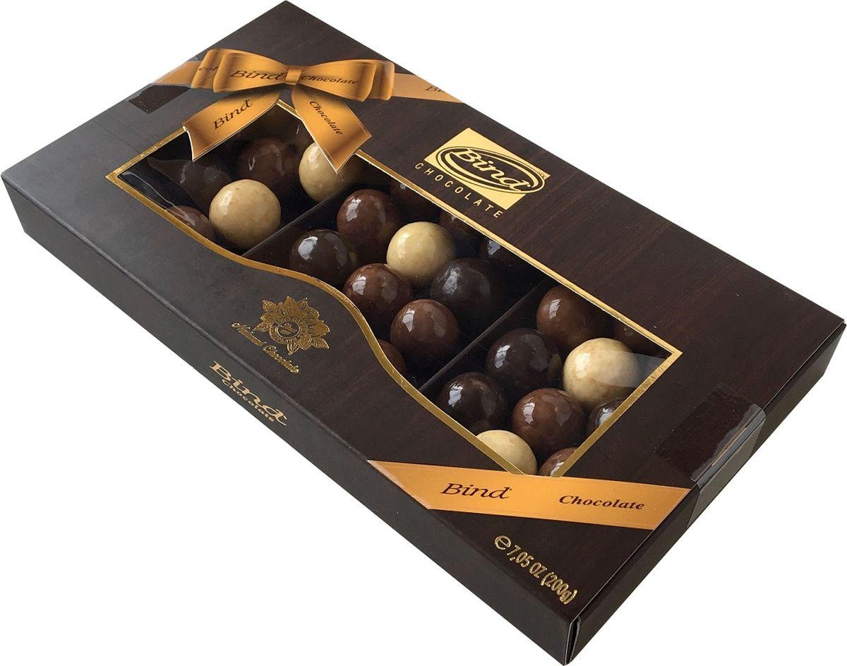 Bind шоколадное драже-ассорти с марципаном, 200 г валериана п 50 драже