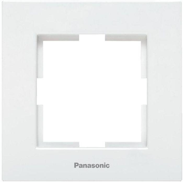 Рамка электроустановочная Panasonic Karre Plus, цвет: белый, на 1 пост. 54833 рамка для розеток и выключателей горизонтальная 1 пост цвет бежевый