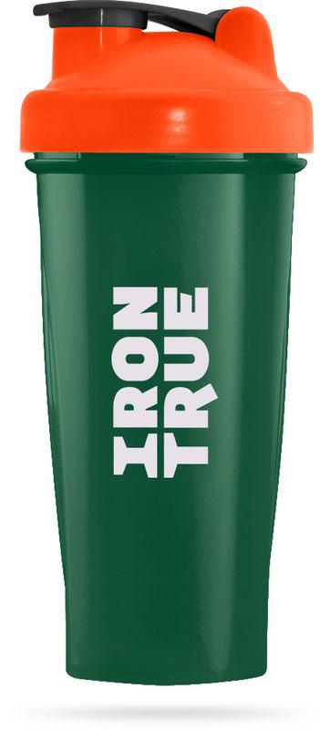 """Шейкер спортивный """"Irontrue"""", цвет: зеленый, оранжевый, 700 мл"""