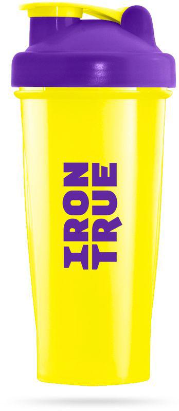 Шейкер спортивный Irontrue, цвет: желтый, фиолетовый, 600 мл цена