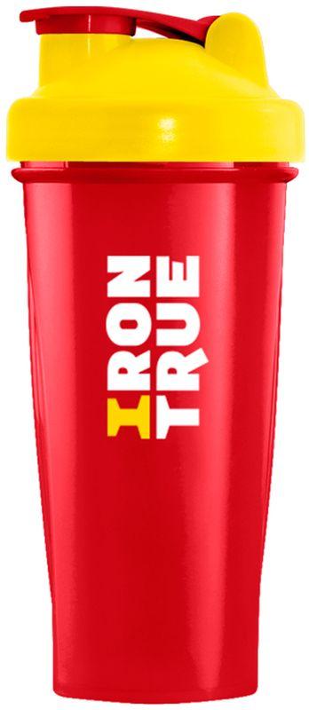 Шейкер спортивный Irontrue, цвет: красный, желтый, 700 мл шейкер harper gym shaker bottle с венчиком цвет голубой 500 мл