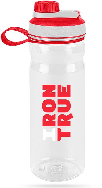"""Шейкер спортивный """"Irontrue"""", цвет: белый, красный, 800 мл"""