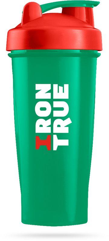 Шейкер спортивный Irontrue цвет зеленый красный 600 мл Irontrue