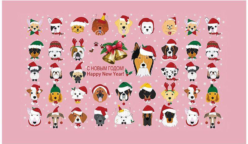 Полотенце кухонное Soavita Собаки новогодние, 38 х 64 см полотенце кухонное soavita паприка 40 х 60 см