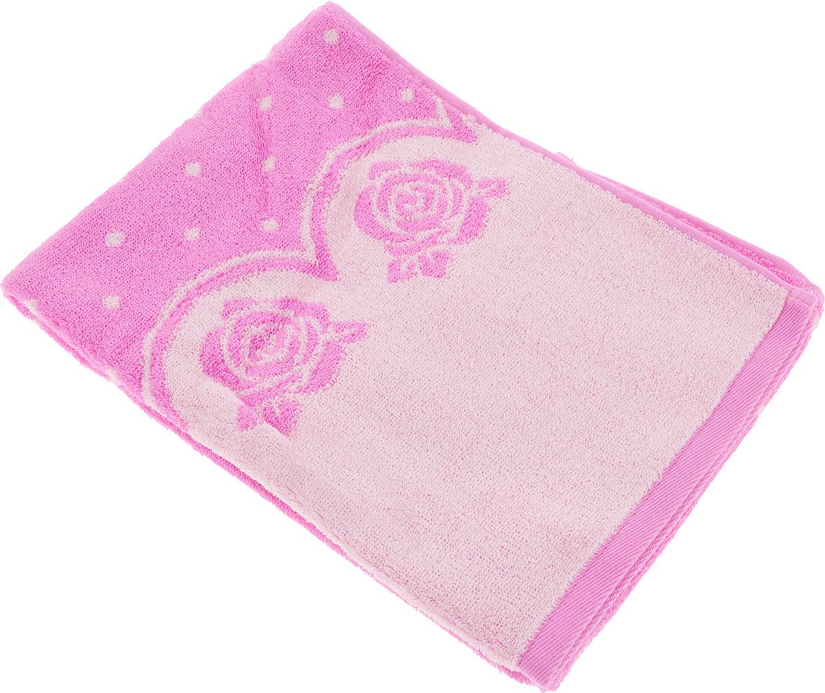 Полотенце Aquarelle Розы 3, цвет: розовый, орхидея, 50 х 90 см полотенце aquarelle стамбул 70x140cm white blue 710397
