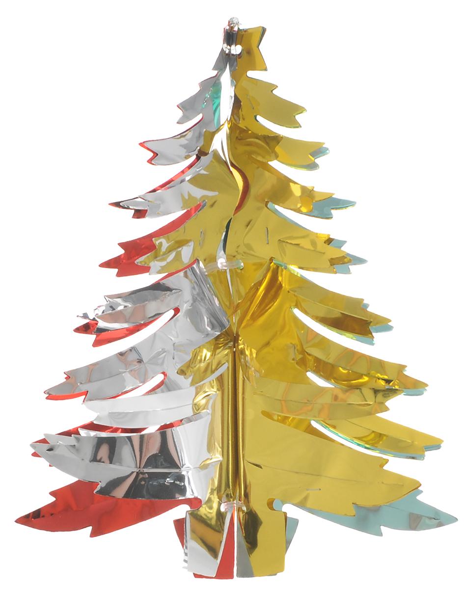 Украшение новогоднее подвесное Winter Wings Елочка, цвет: красный, высота 26 см украшение новогоднее елочка заснеженная цвет красный 14 5 см 35691