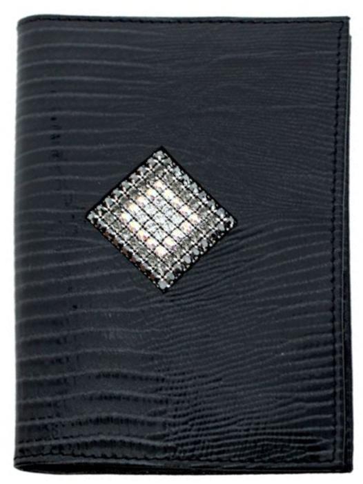Обложка для автодокументов женская Krystall, цвет: серый, черный. 0-559(СВ) обложка для автодокументов gianni conti цвет черный