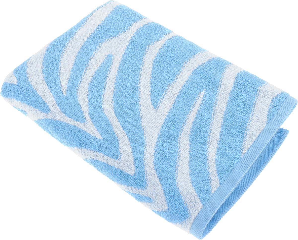 Полотенце Aquarelle Мадагаскар. Зебра, цвет: белый, синий, 70 х 140 см полотенце махровое aquarelle волна цвет ваниль 70 x 140 см