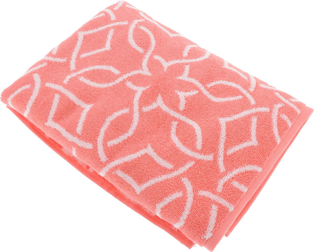 Полотенце банное Aquarelle Стамбул, цвет: белый, коралловый, 70 х 140 см полотенце банное aquarelle бостон 2 цвет белый маренго 70 х 140 см
