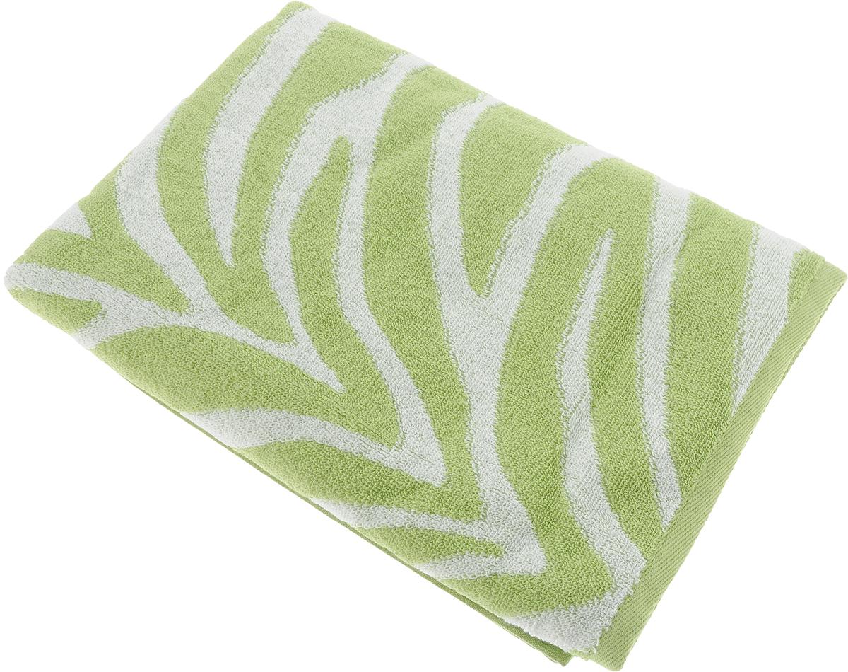 Полотенце банное Aquarelle Мадагаскар. Зебра, цвет: белый, травяной, 70 х 140 см полотенце банное aquarelle бостон 2 цвет белый маренго 70 х 140 см