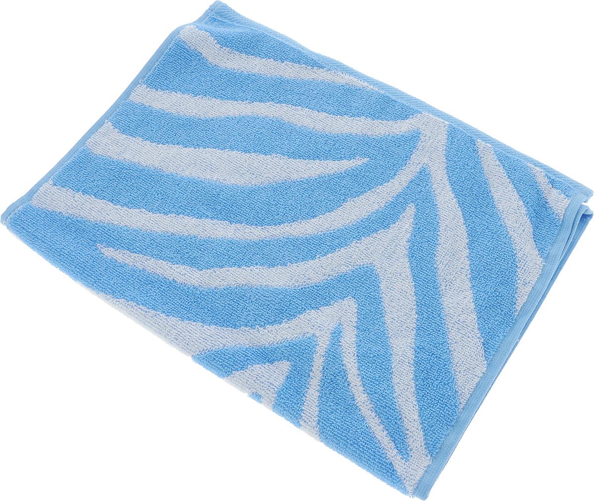 Полотенце Aquarelle Мадагаскар. Зебра, цвет: белый, синий, 35 х 70 см полотенце aquarelle стамбул 70x140cm white blue 710397