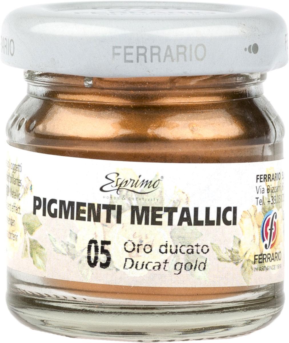 Ferrario Пигмент металлик цвет 005 дукатное золото ferrario краска масляная van dyck цвет 91 золото av1116bo91